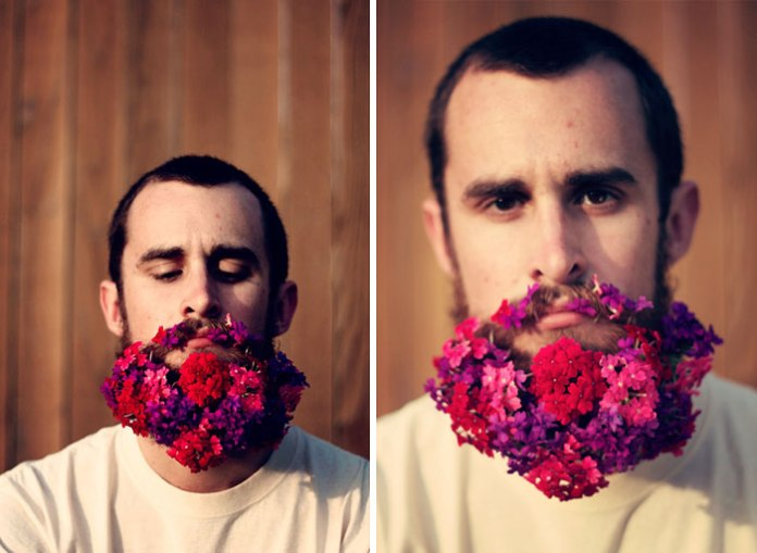 flowers in beards