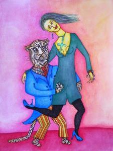Le tango du tigre Read more at: 渋谷のアツコバルーにて、日本初公開となるホドロフスキー夫妻共作のドローイング展「二人のホドロフスキー 愛の結晶」まもなく開催! 7月17日より! http://white-screen.jp/?p=40460