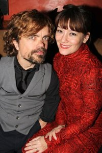 Peter Dinklage with his wife, theatre director Erica Schmidt, in New York in 2013. Photograph: Bruce Glikas/FilmMagic