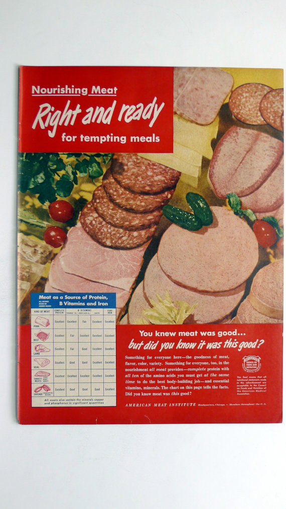 1949 American Meat Institute Ad