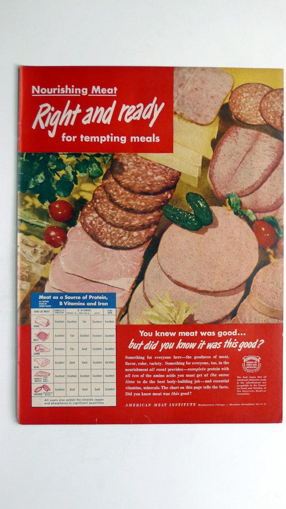 1949 American Meat Institute Ad
