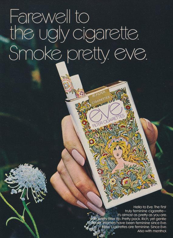 1970s Eve Cigarettes Ad