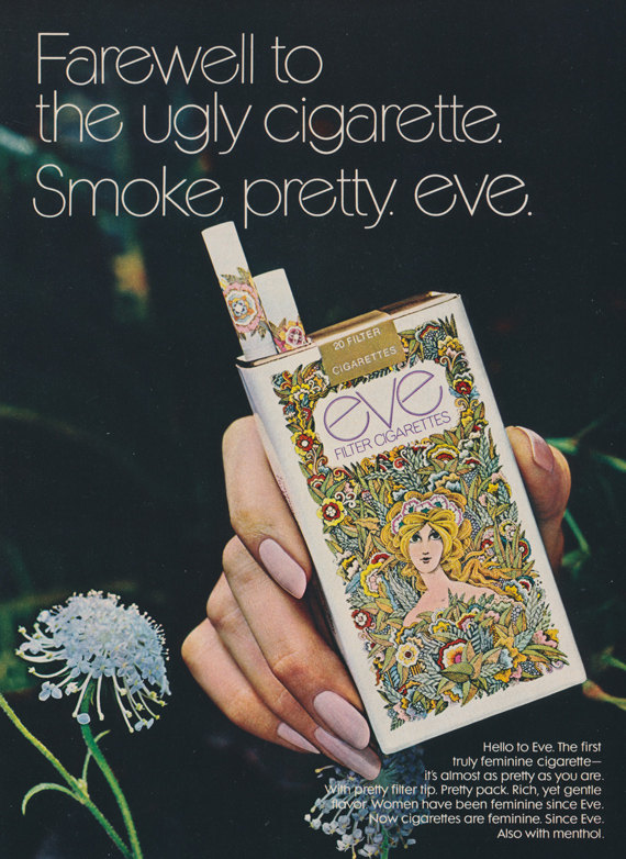 1970s Eve Cigarettes Ad