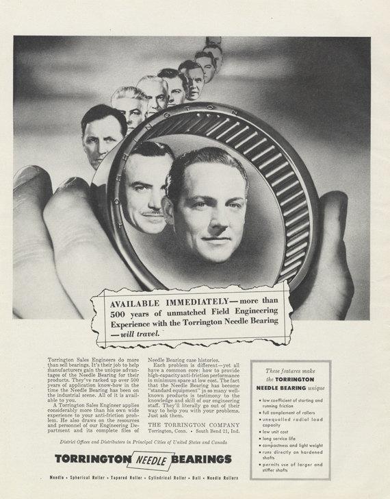 1955 Torrington Needle Bearings Ad