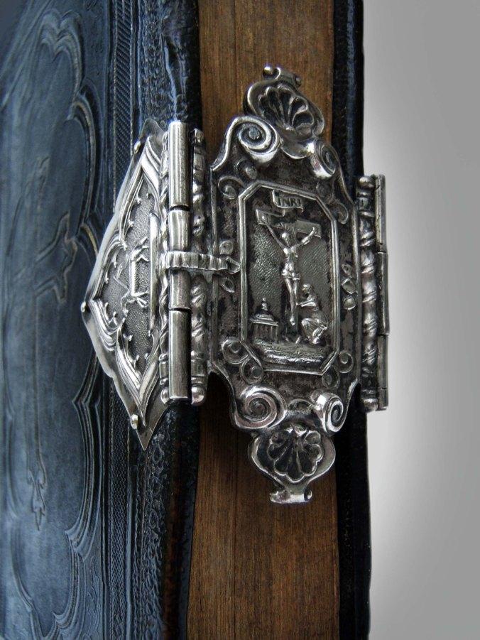Silver book-clasp