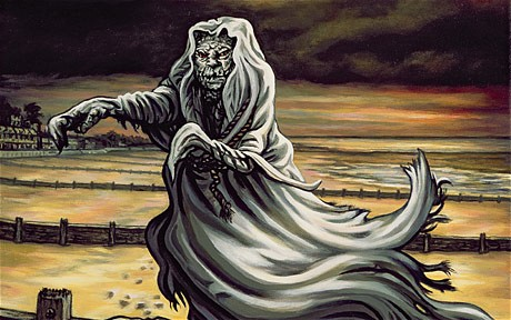 Spooky: an illustration for MR James's 'O Whistle and I'll Come to You, My Lad' by Jonathan Barry Photo: Bridgeman Art