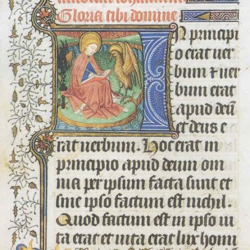 John on Patmos (Book of Hours)