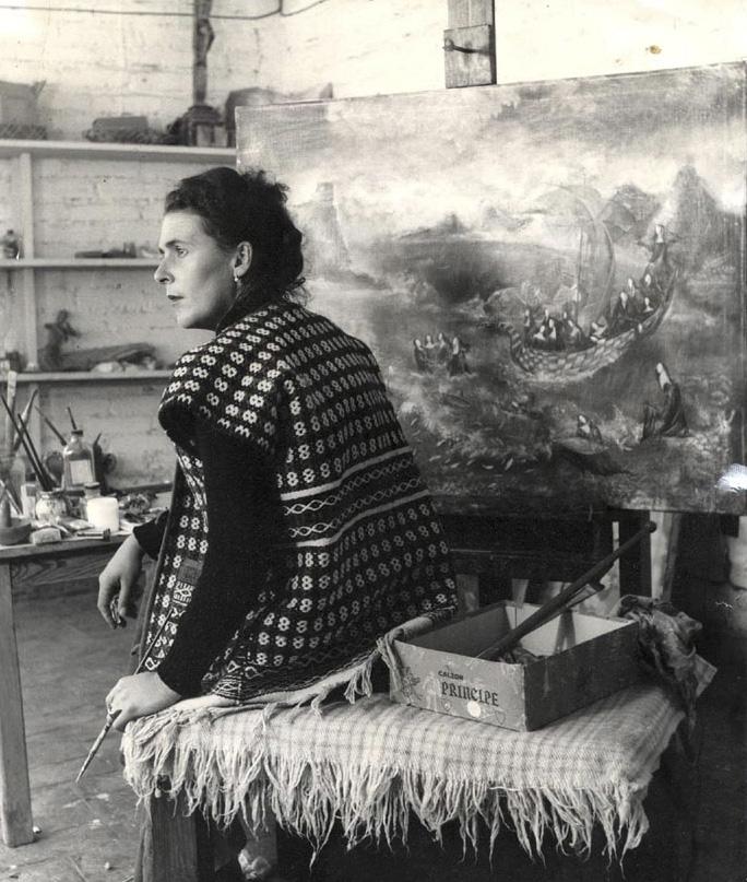 """MÉXICO, D.F., 06ABRIL2015.- Hoy se cumple el 98 aniversario del natalicio de Leonora Carrington, """"La novia del viento"""", quien en 1963 tuvo el encargo de llevar a cabo un mural para el Museo Nacional de Antropología: """"El mundo mágico de los mayas"""".  FOTO: ARCHIVO /CONACULTA /CUARTOSCURO.COM"""