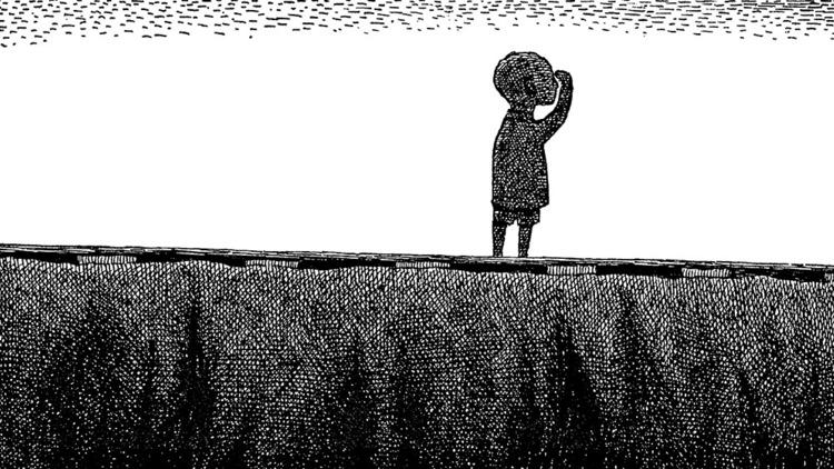 Illustration (detail) from The Gashlycrumb Tinies, 1963