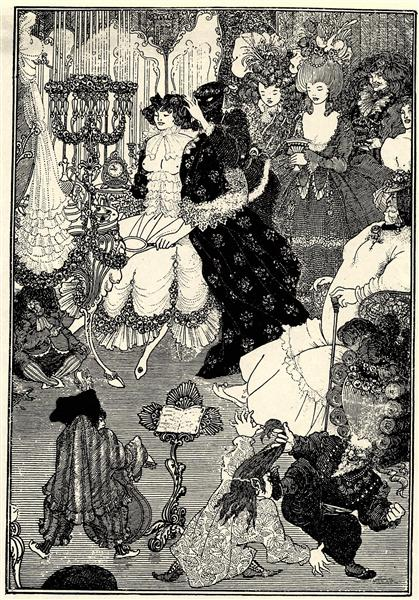 The Toilet Of Helen Aubrey Beardsley Style: Art Nouveau (Modern) Genre: illustration