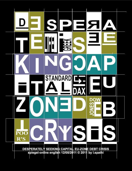 Desperately Seeking Capital €U-Zone Debt CRYsis/negativ Luxus Artistamps 2011 by Litsa Spathi