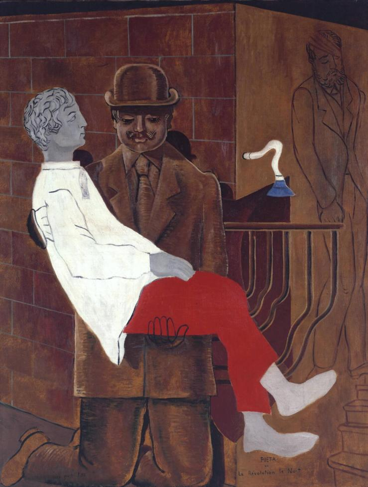 pietà or revolution by night by max ernst, 1923