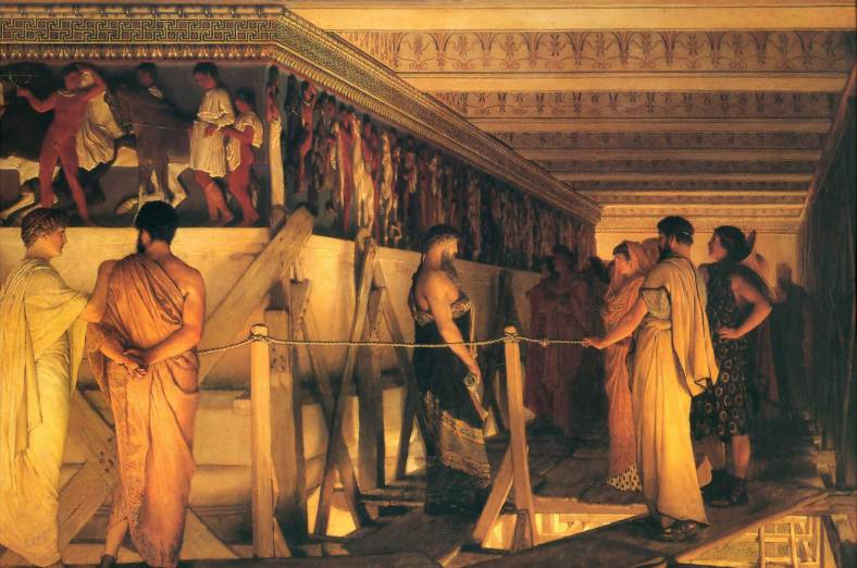 1868_Lawrence_Alma-Tadema_-_Phidias_Showing_the_Frieze_of_the_Parthenon_to_his_Friends