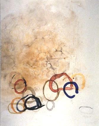 "11 STONES, 1989 color spit bite, sugar lift aquatint on smoked paper 23 x 18"", 58 x 46 cm"