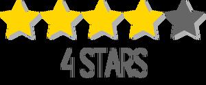4/5 stars