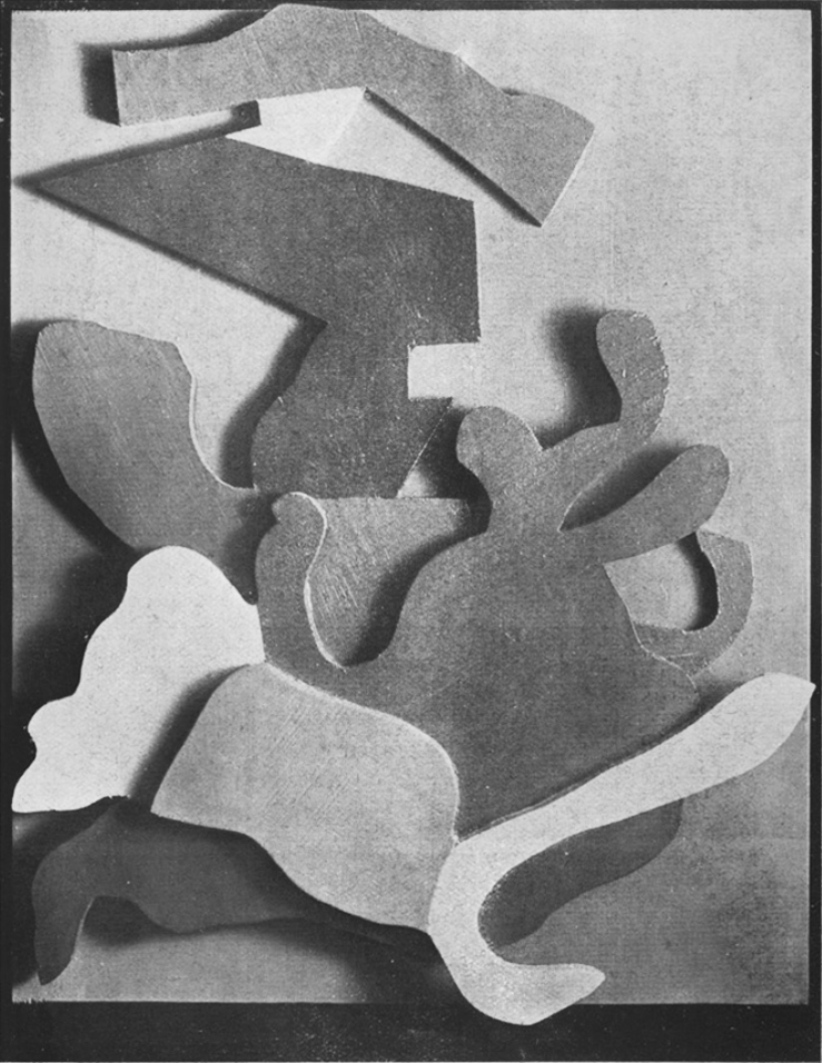 Jean Arp, reproduced in 391, No. 8, Zurich, February 1919