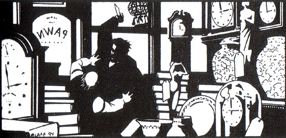 Markheim as illustrated by Michael Lark