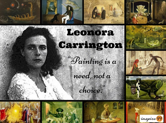 Leonara-Carrington-Painting-is-a-need-not-a-choice.