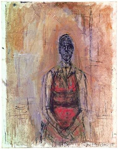 Demi-monde muse … Caroline (1965) by Alberto Giacometti