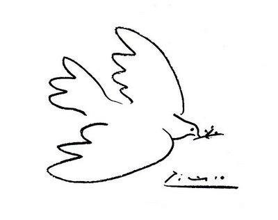 """Picasso's """"Dove of Peace"""" Napkin Art"""